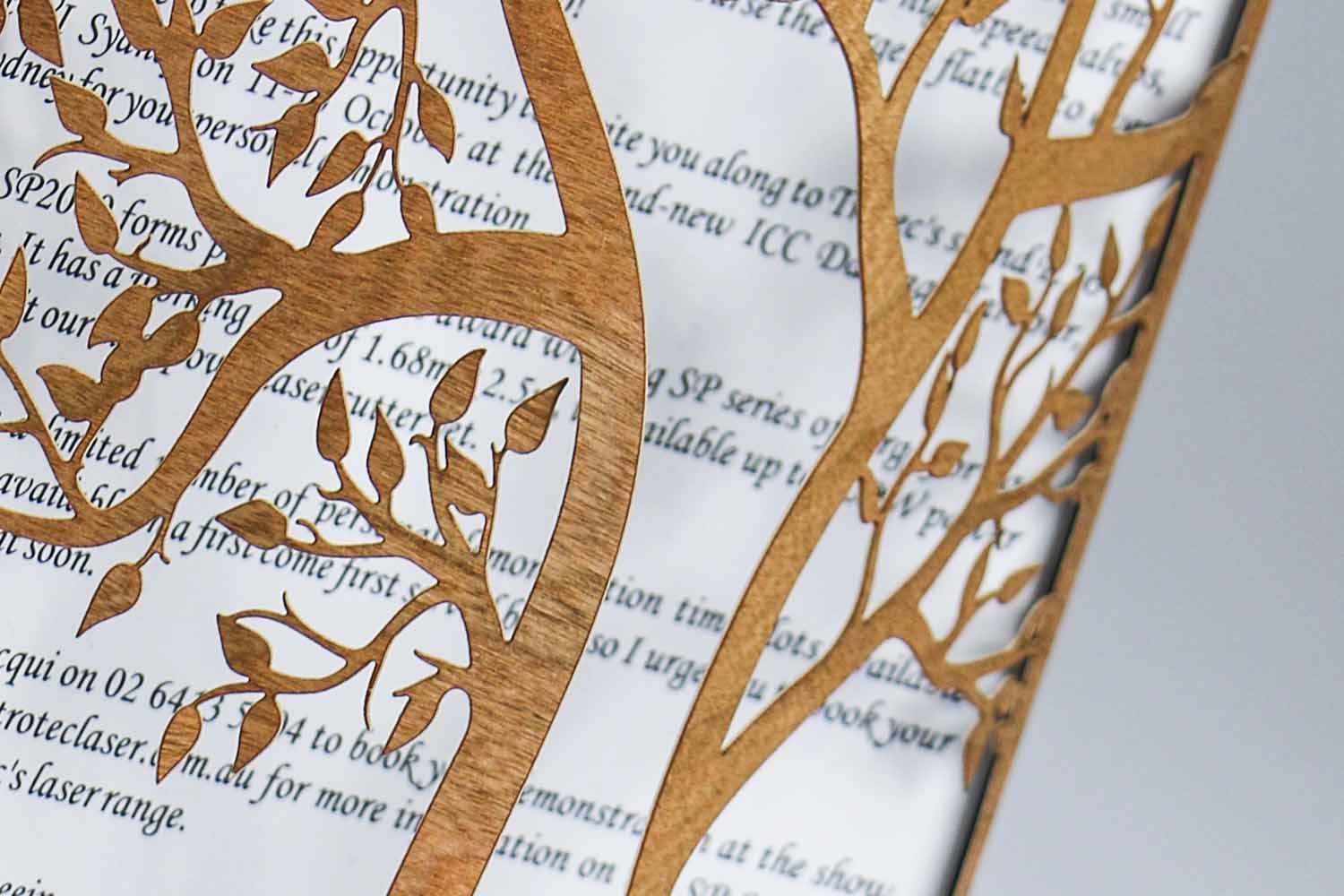 wooden paper combines laser and printing applications