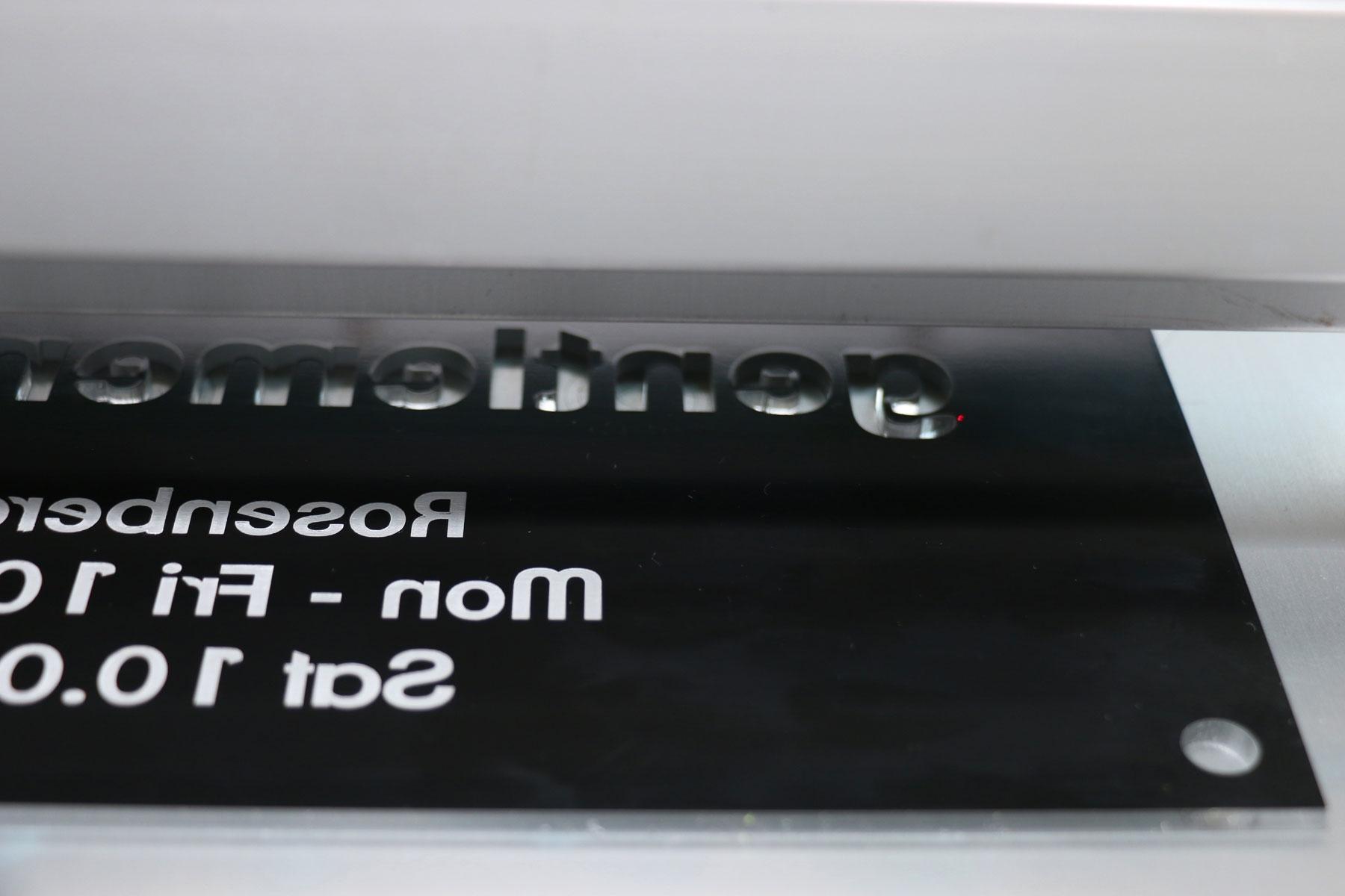reverse laser engraving acrylic