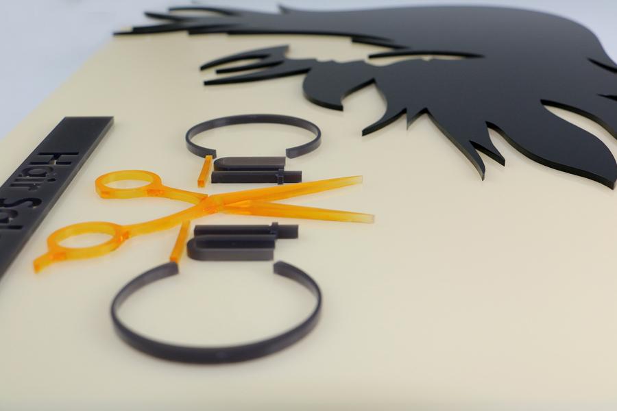 décoration laser découpée au laser en matériau acrylique satiné TroGlass
