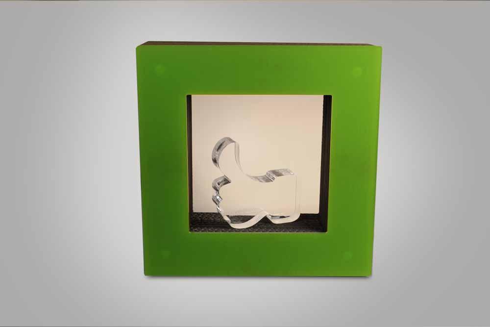 LED optimized acrylic glass