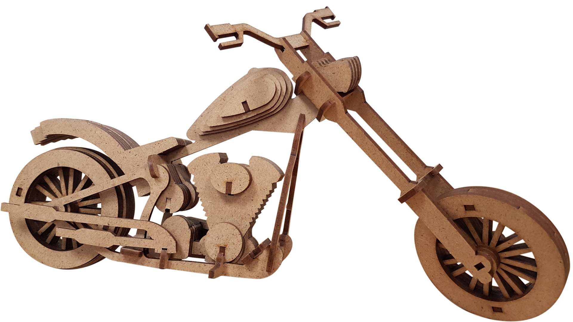 laser cut MDF motorbike
