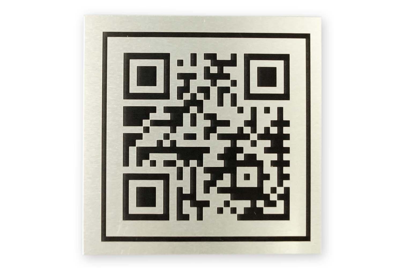 Gravieren und Markieren QR codes mit Alumark