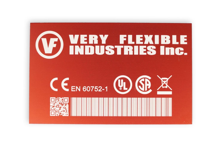 label anodised aluminium