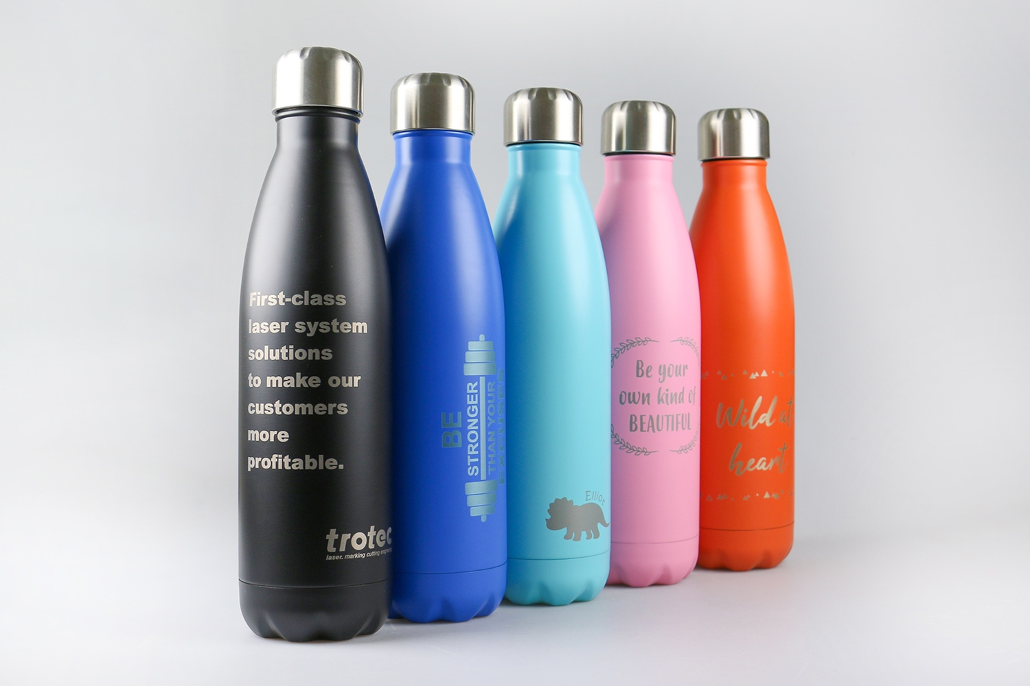 laserable insulated drinking bottles