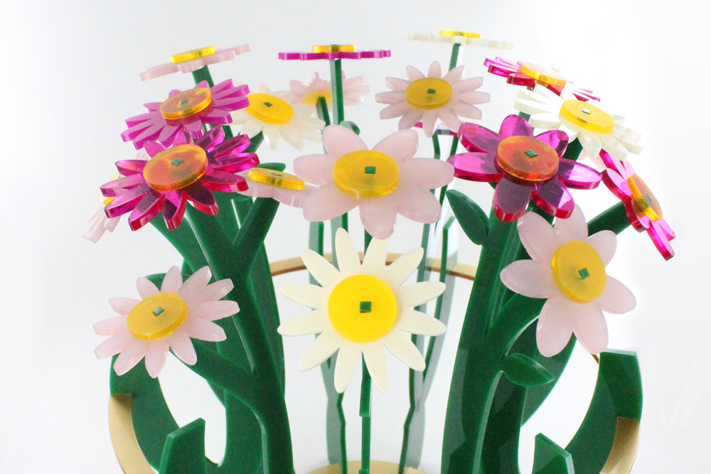 Laser cut MDF wooden Pack of 3 Vase with Flowers Different Sizes Available