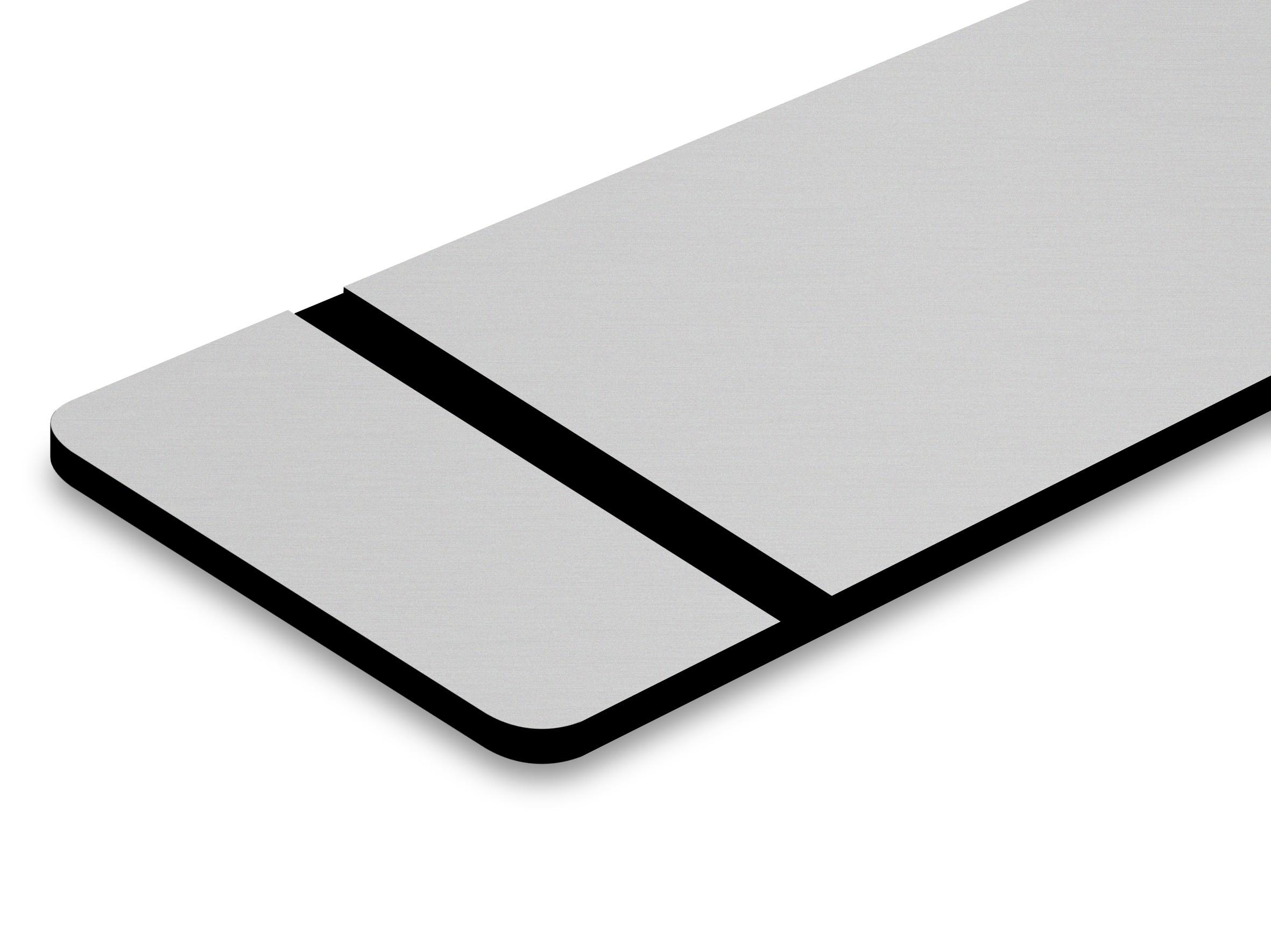 PMT+344-203 Silber matt/schwarz 0,8mm