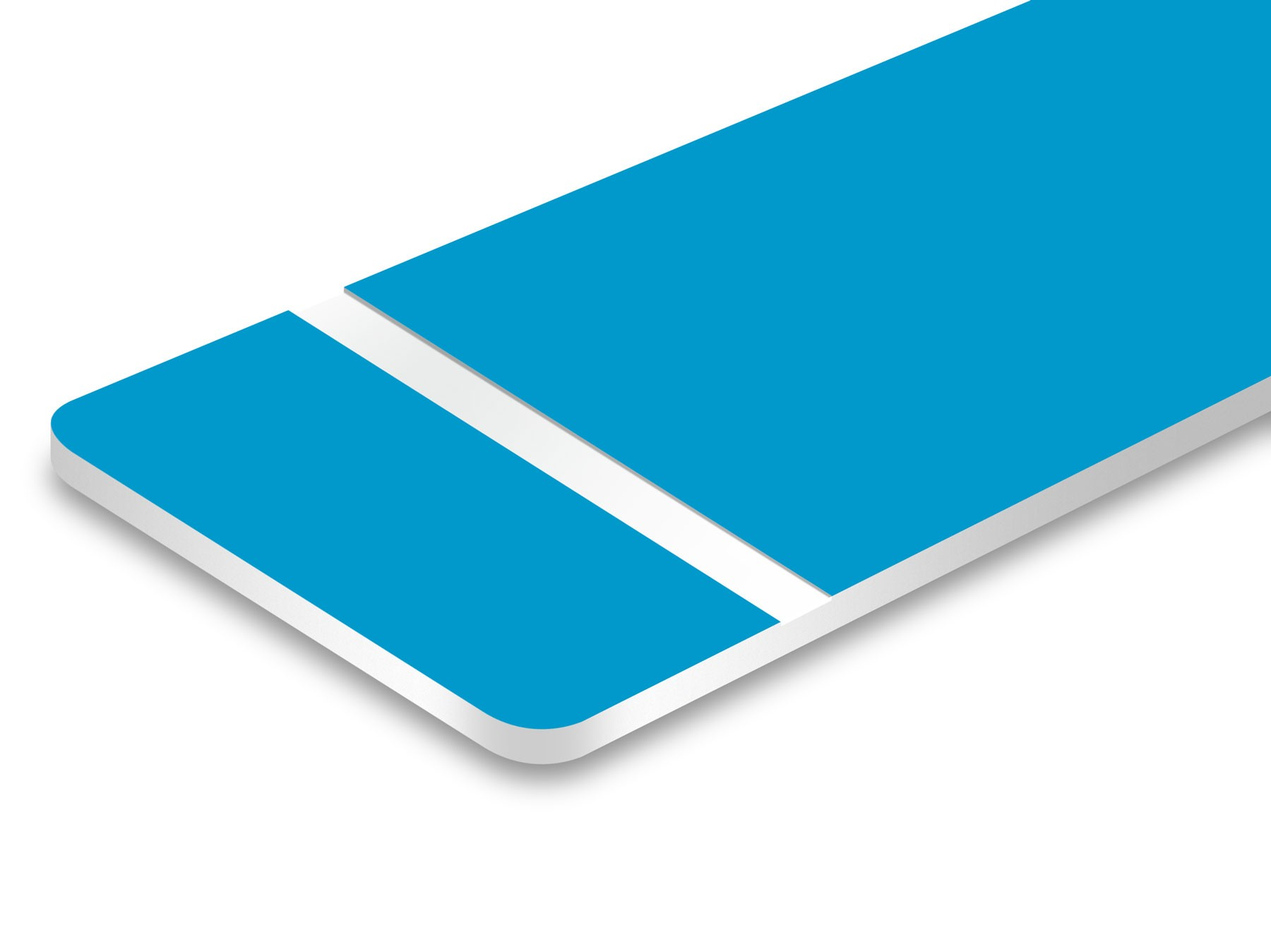 TroLase Hellblau/Weiß 0,8mm
