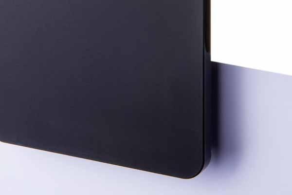 TroGlass Satins Schwarz Blickdicht, 3mm