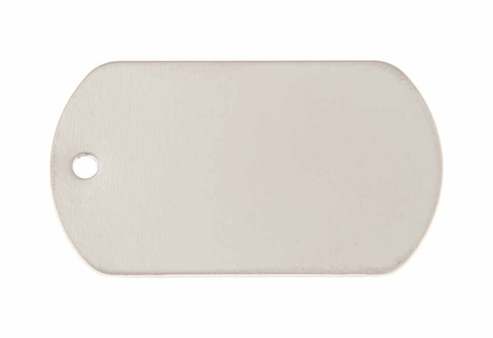 Military tag stainless steel 50x29mm