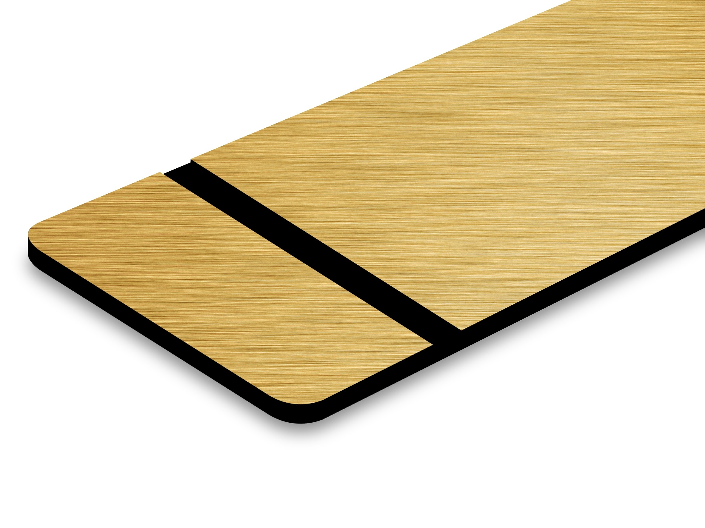 PMT+734-203 Brushed Gold/Black 0,8mm