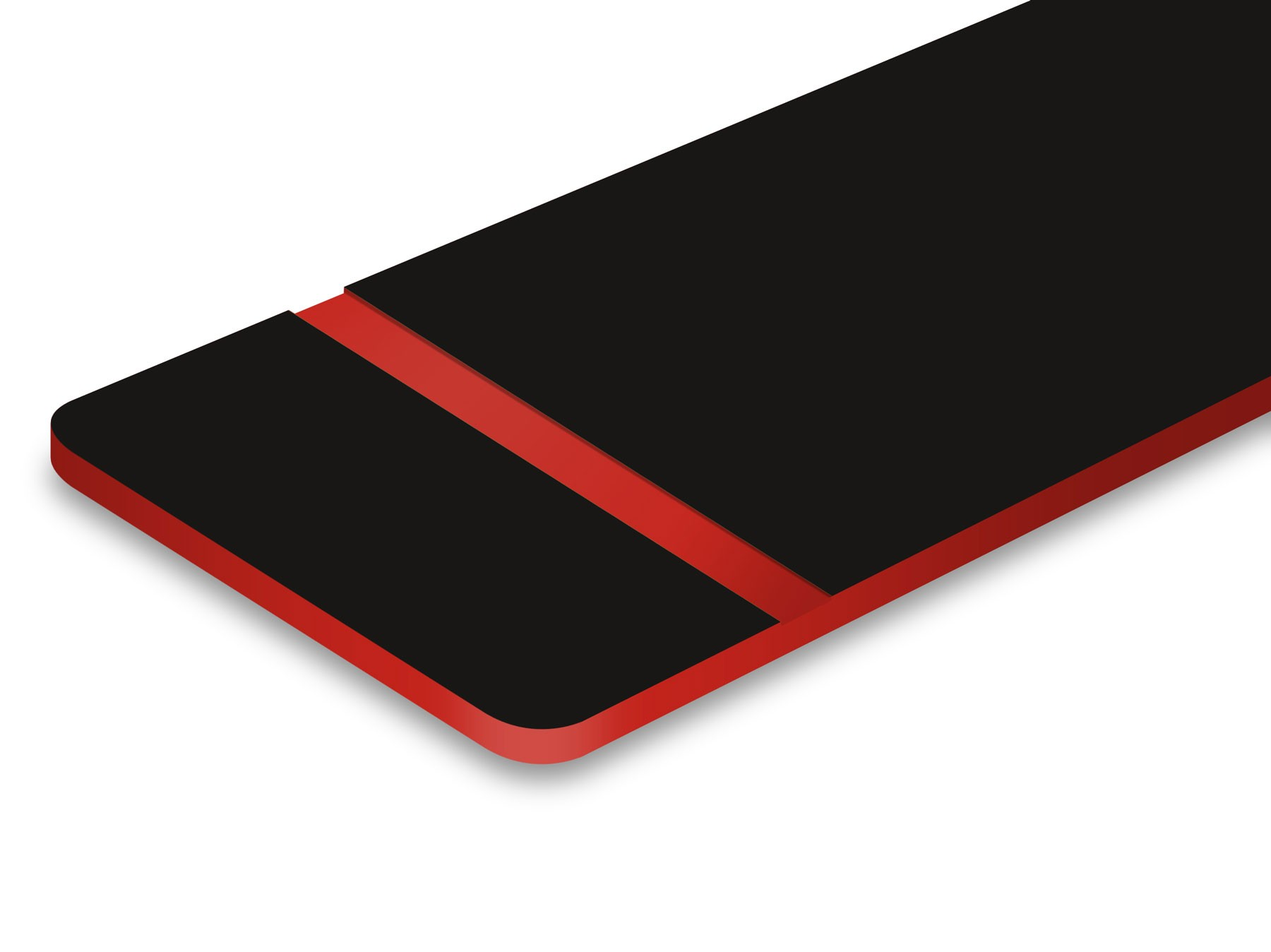 L406-206 Black/Red 1.6mm