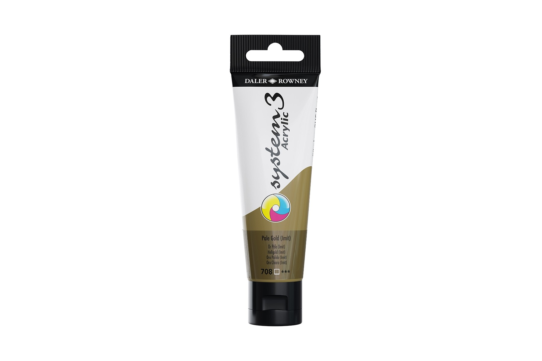 System 3 Acrylic paint gold 59 ml