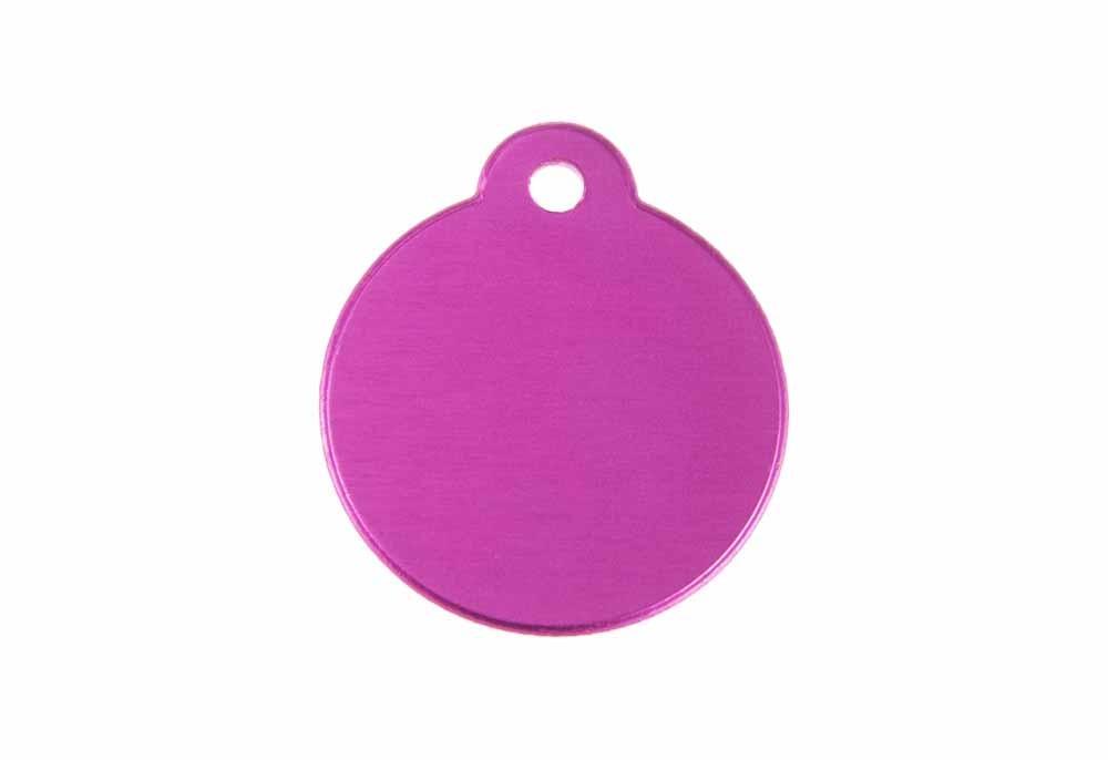 Circle w. Loop - Pink - 1.06'' x 1.06''