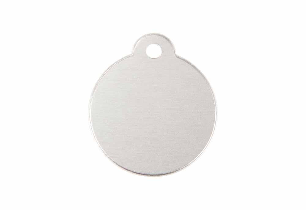 Circle w. Loop - Silver - 1.06'' x 1.06''