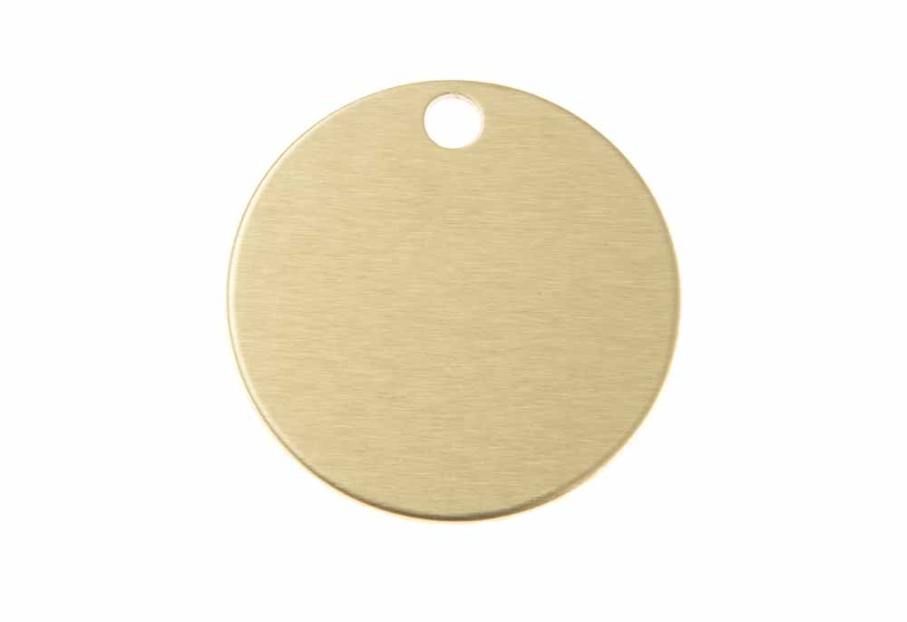 Aluminum Pet Tag, Circle, Gold - Large 1.25'' x 1.25''