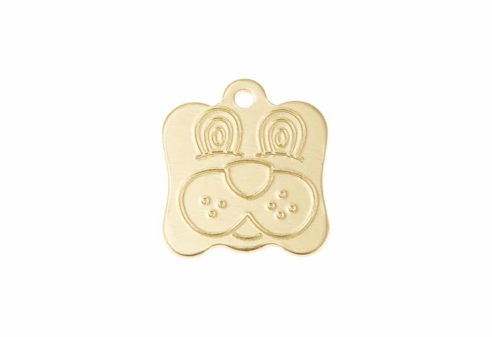 Aluminum Pet Tag, Dog, Gold - 0.8'' x 0.95''
