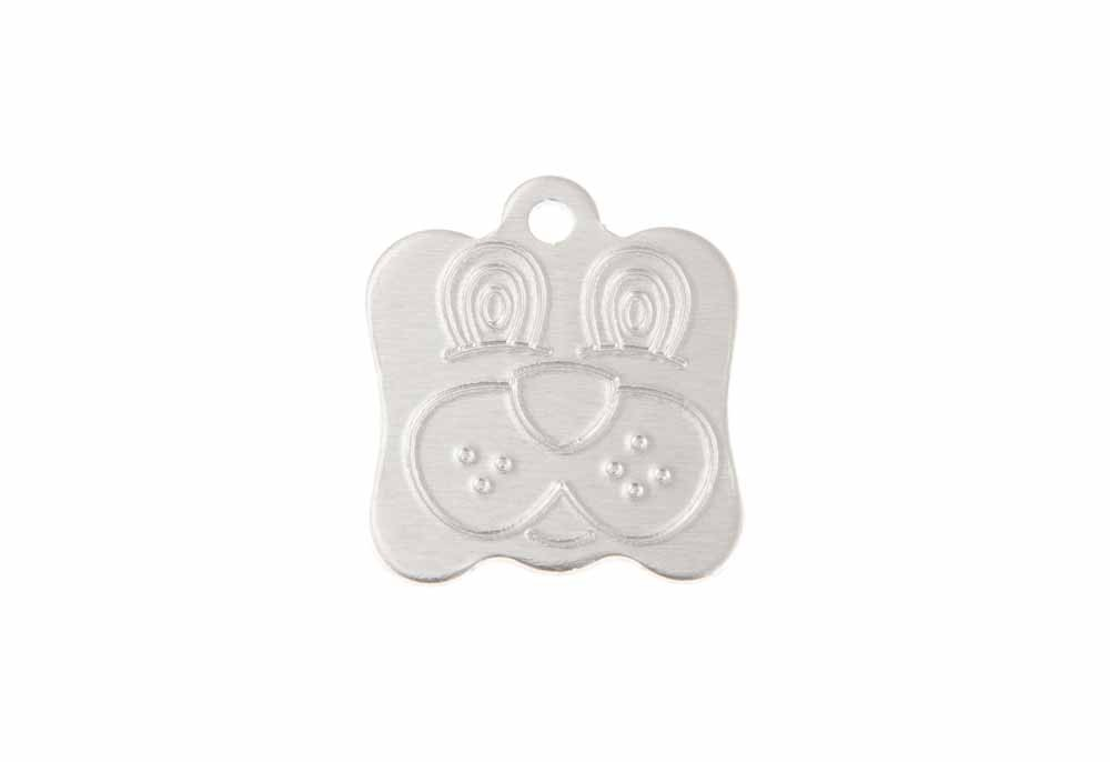 Aluminum Pet Tag, Dog, Silver - 0.8'' x 0.95''