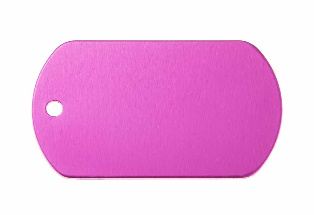 Aluminum Pet Tag, Military, Pink - 2'' x 1.14''