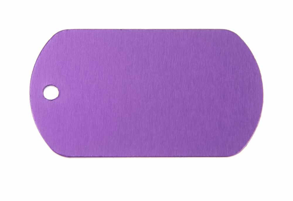 Aluminum Pet Tag, Military, Purple - 2'' x 1.14''