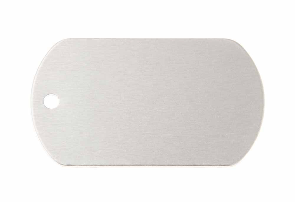 Aluminum Pet Tag, Military, Silver - 2'' x 1.14''