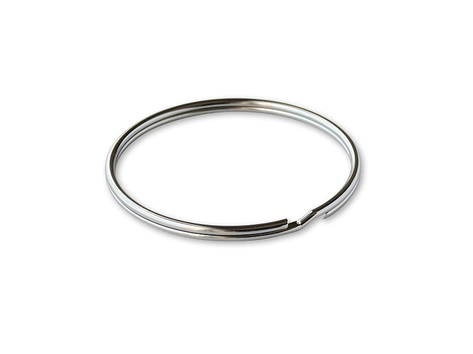 "1"" Split Ring Silver, 100/box"