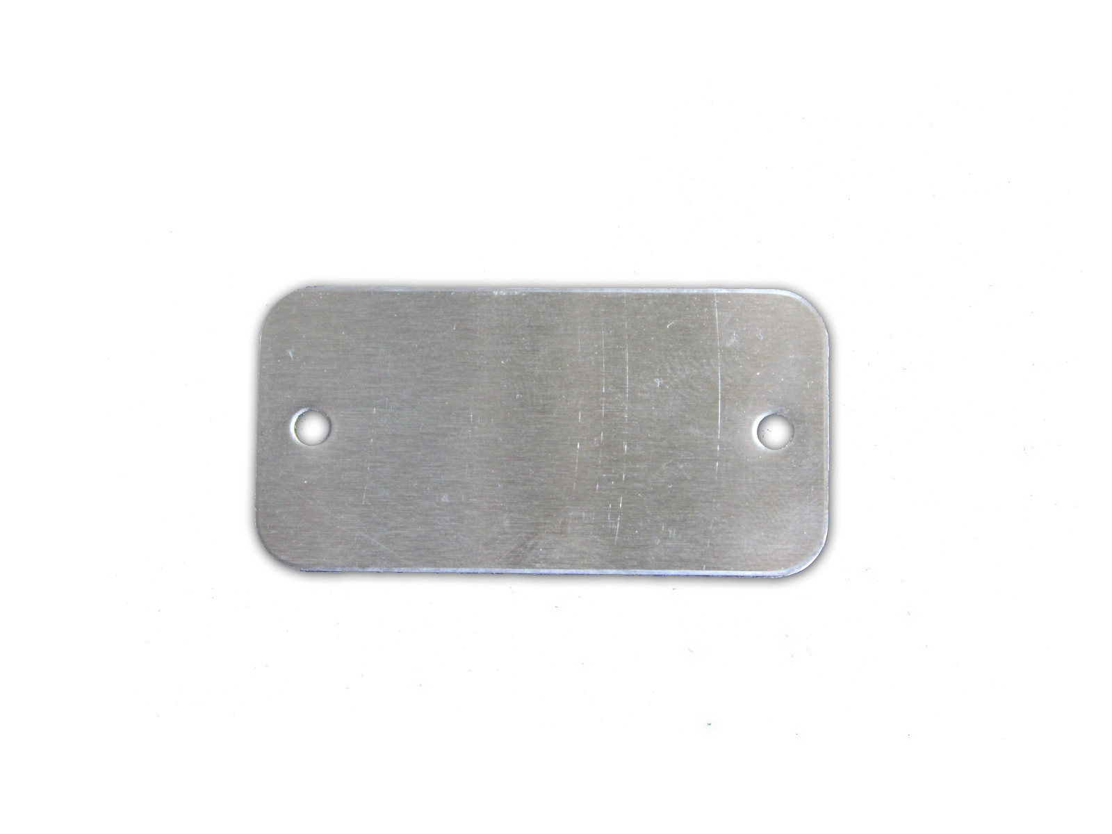 "1"" x 2"" Cable Tag with two 1/8"" Holes, #304 SS"