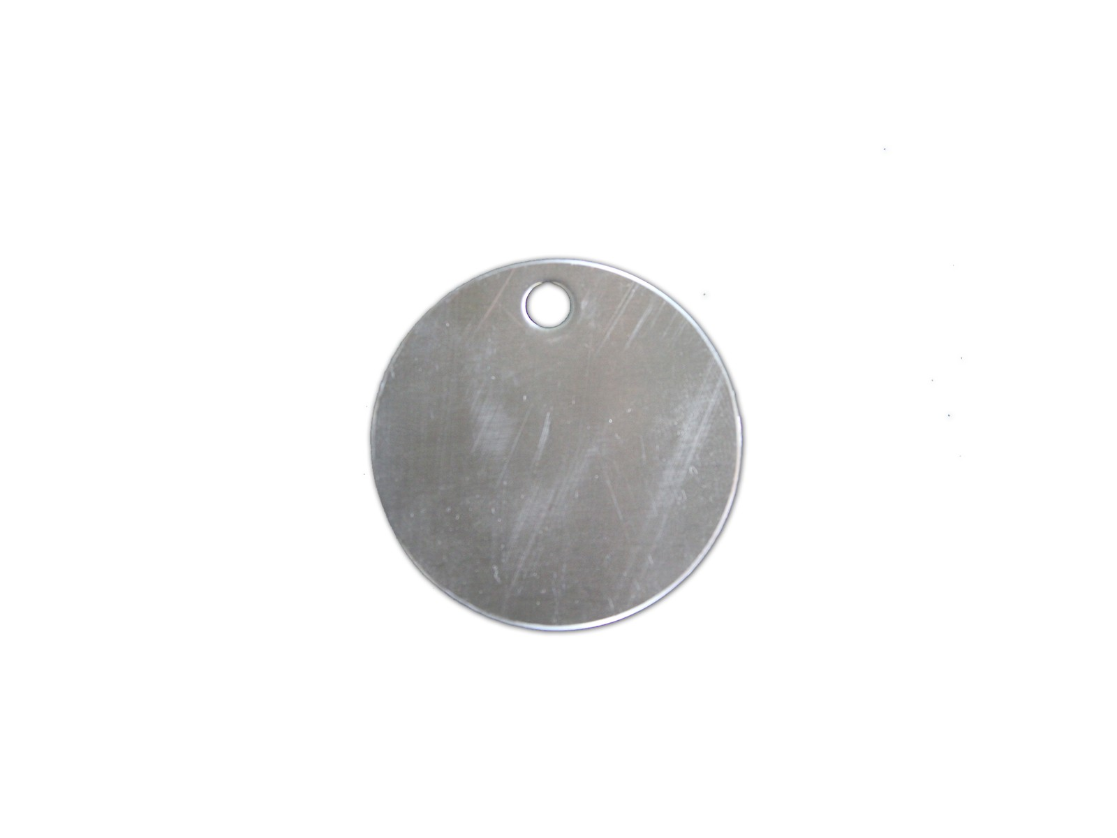 "1 1/2"" Diameter Tag with 1/4"" Hole, #304"