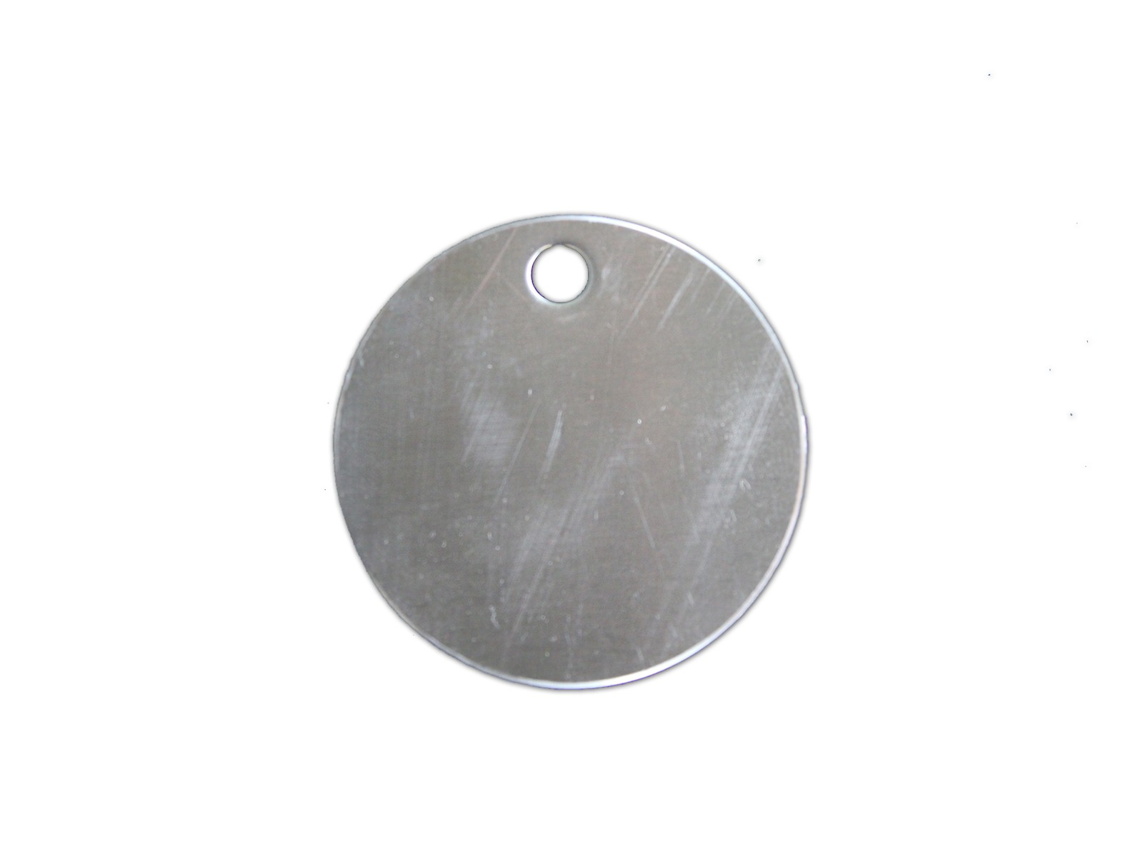 "2"" Diameter Tag with 1 Hole, #304 #4 SS"