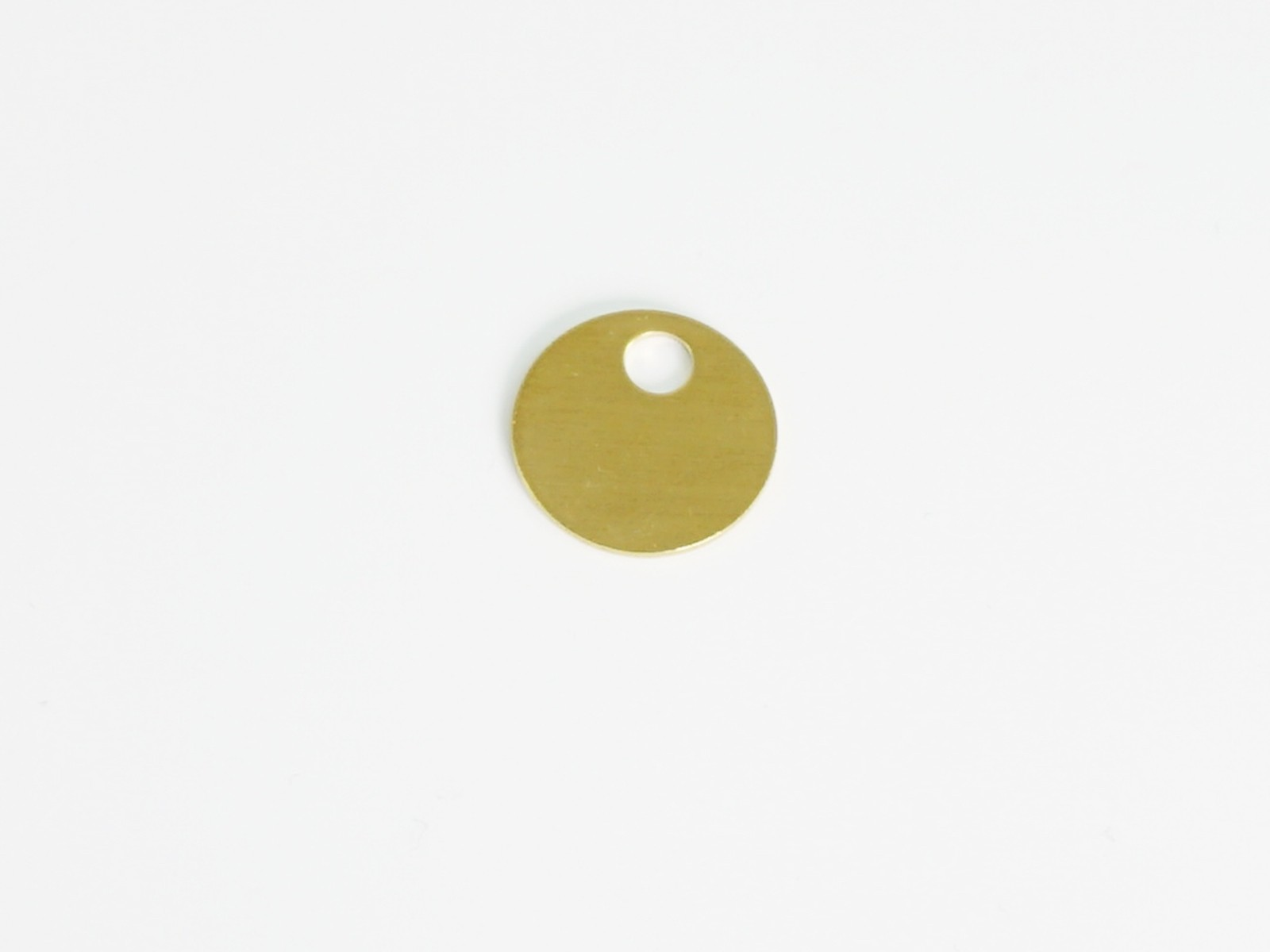 "3/4"" Brass Tags with Hole, 100/box"