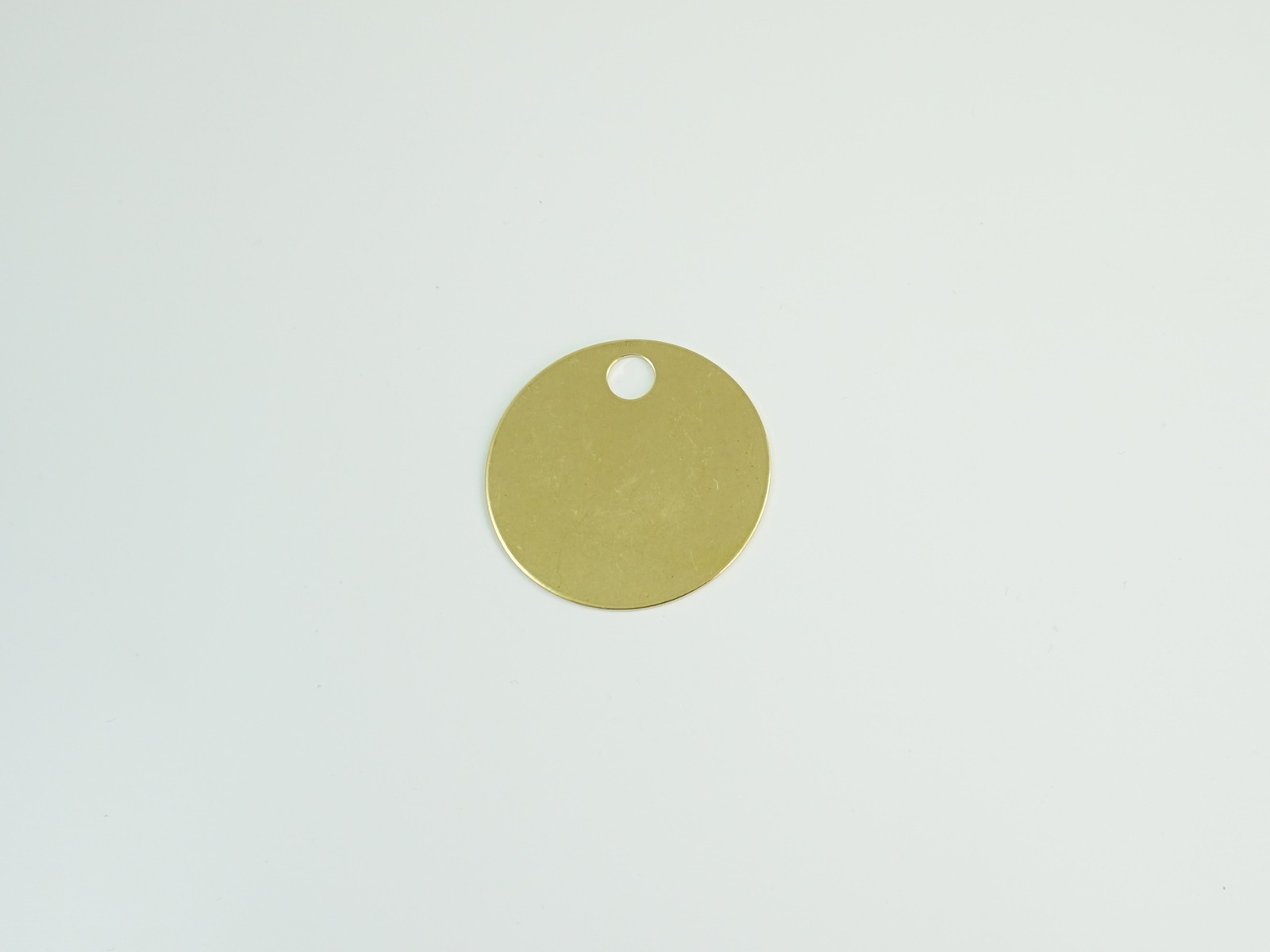"1 7/8"" Brass Tags with Hole, 100/box"