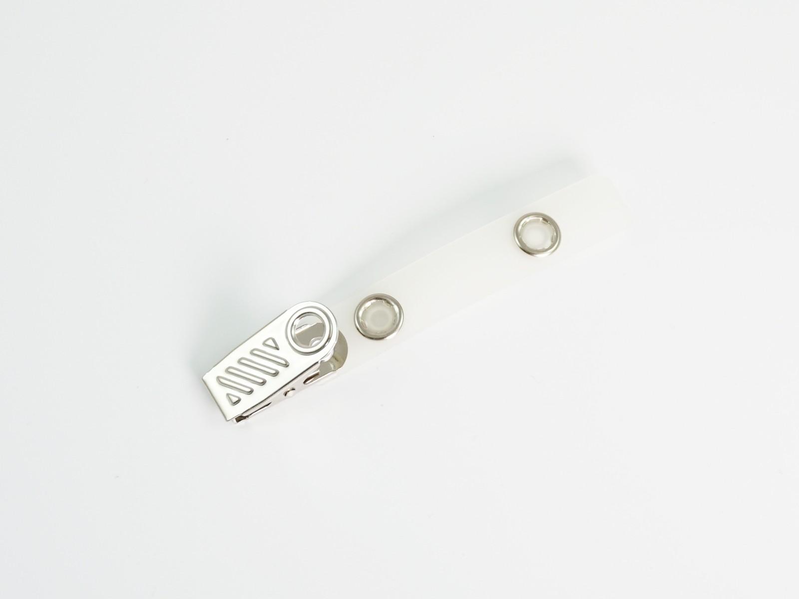Metal Clip Clear Swivel Strap, 50pc/bag