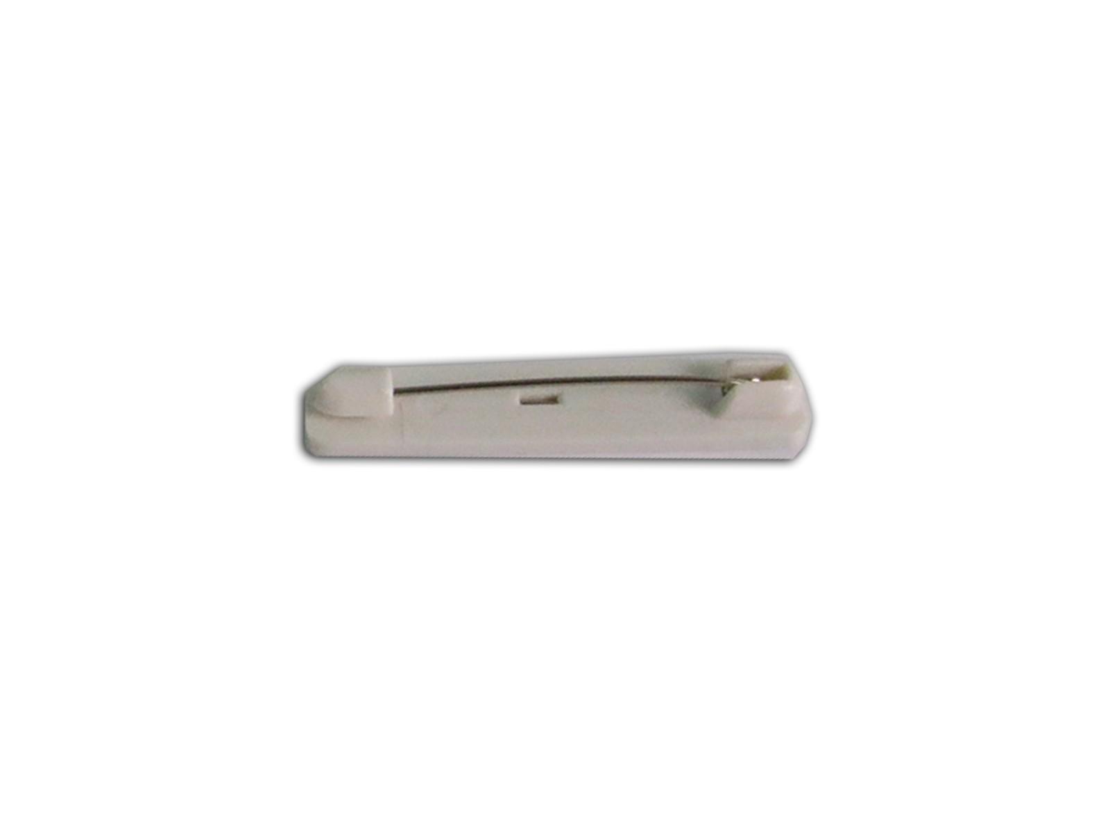 """1 1/2"""" Long White Bar Pin, Plastic Non-Adhesive, 50pc/bag"""