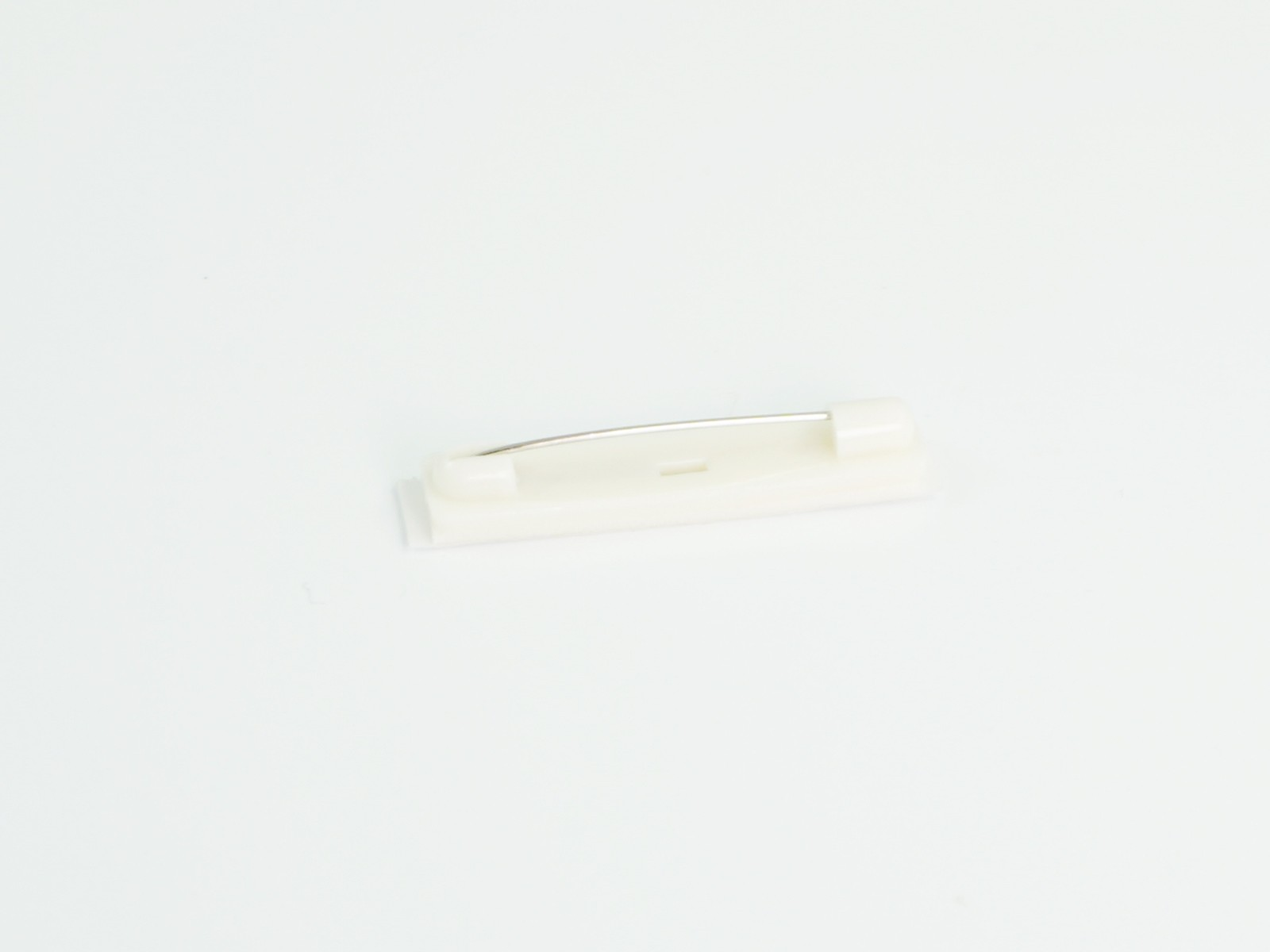 "1 1/2"" Long White Bar Pin, Plastic with Adhesive, 100 pcs/bag"