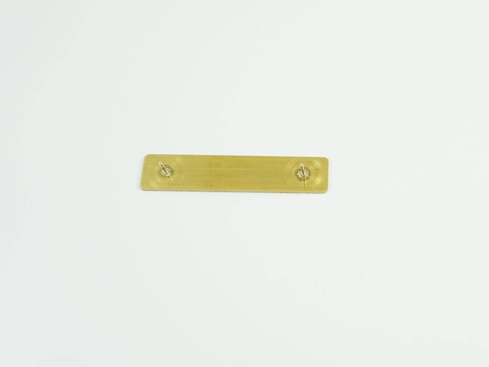 "1/2"" x 2 3/8"" Bright Silver Badge Pin Back"