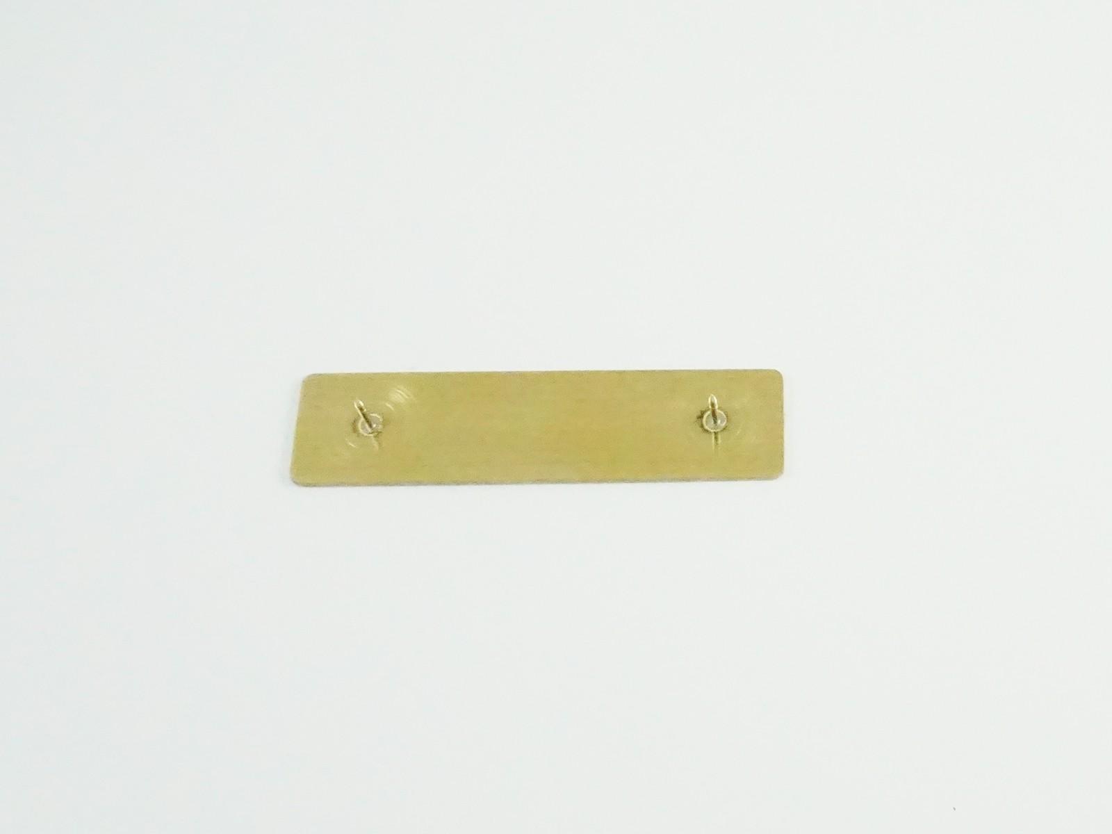 """5/8"""" x 2 1/2"""" Bright Gold Badge Pin Back"""