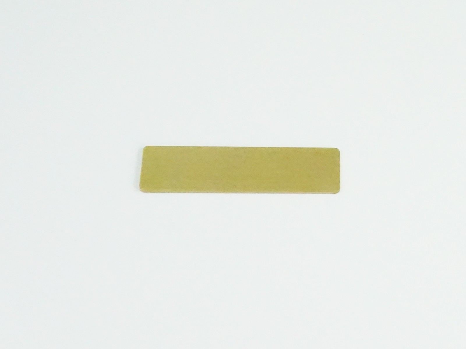 "5/8"" x 2 1/2"" Bright Gold Badge Blank Back"