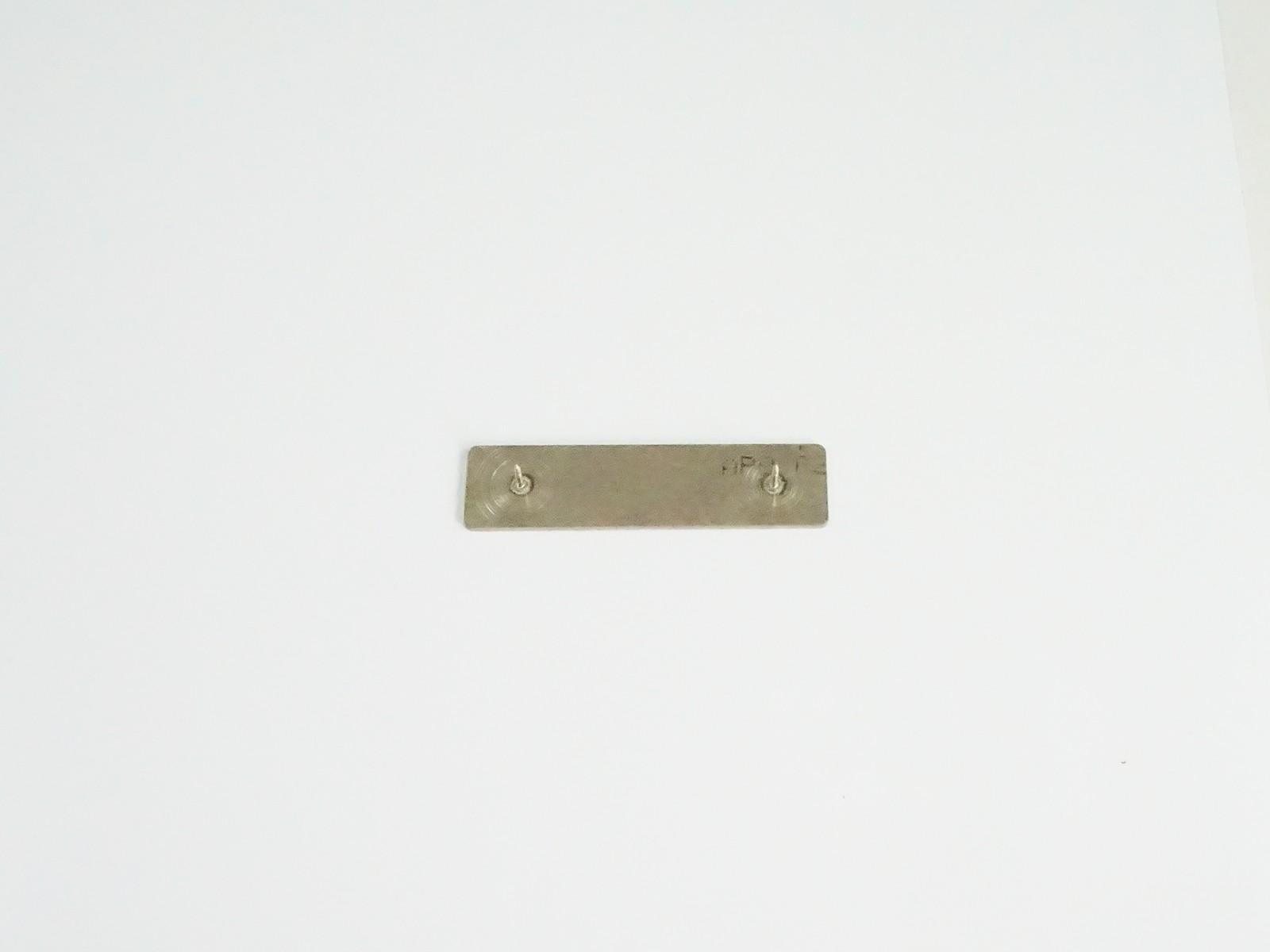 "5/8"" x 2 1/2"" Bright Silver Badge Pin Back"