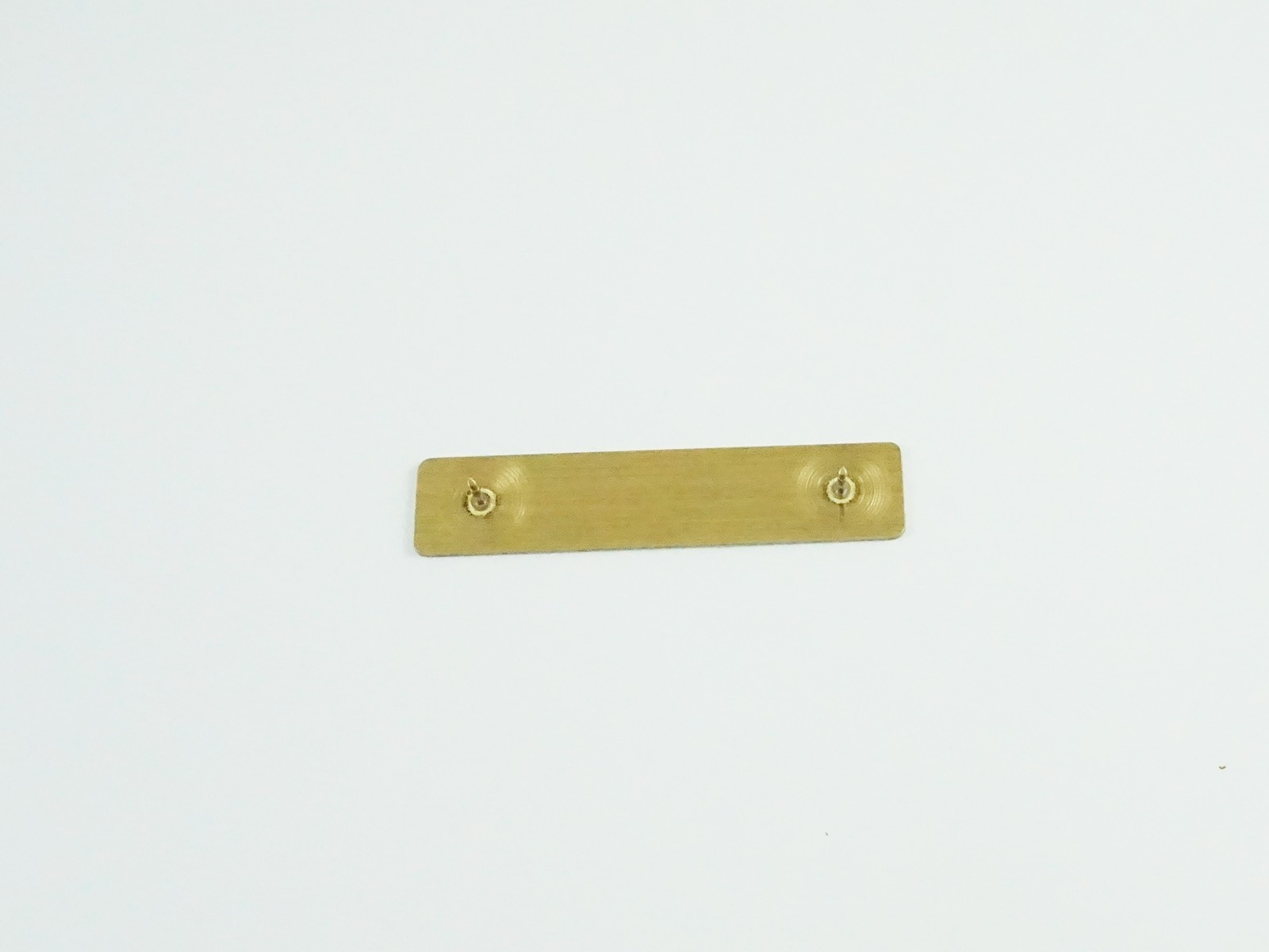"1/2"" x 2 3/8"" Satin Gold Badge Pin Back"