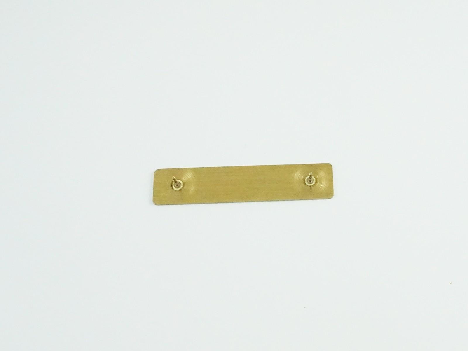 "1/2"" x 2 3/8"" Satin Gold Badge Pin Back"