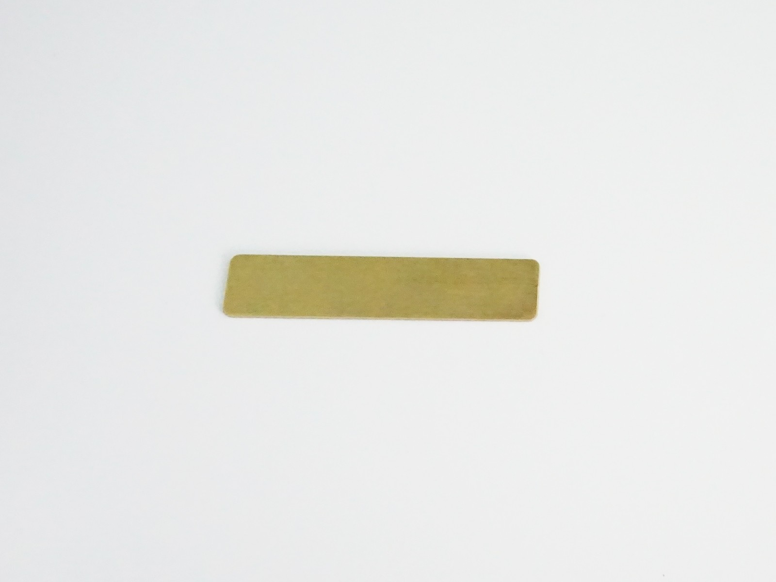 "1/2"" x 2 3/8"" Satin Gold Badge Blank Back"