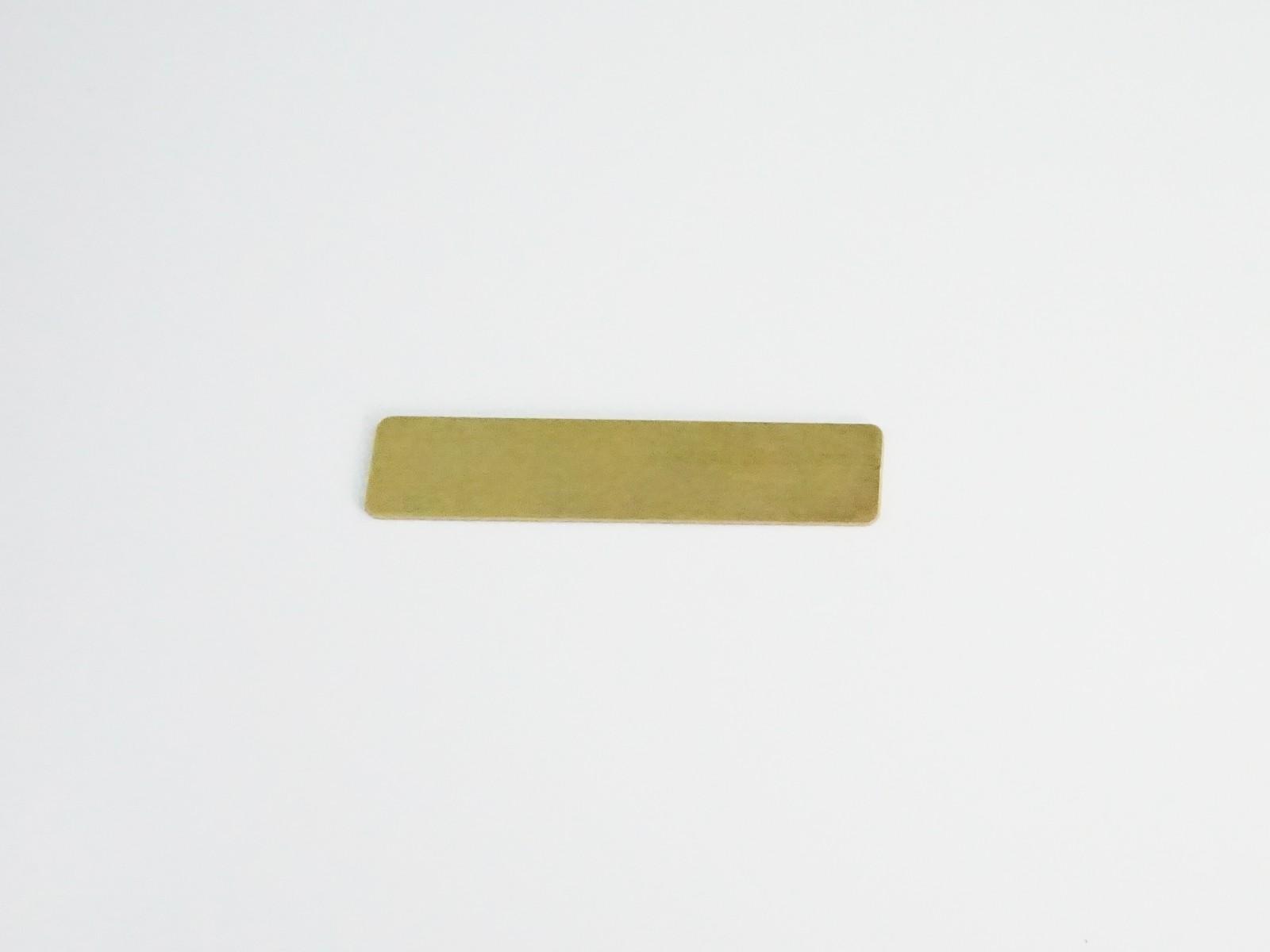 "1/2"" x 2 3/8"" Satin Gold Badge Blank Back"