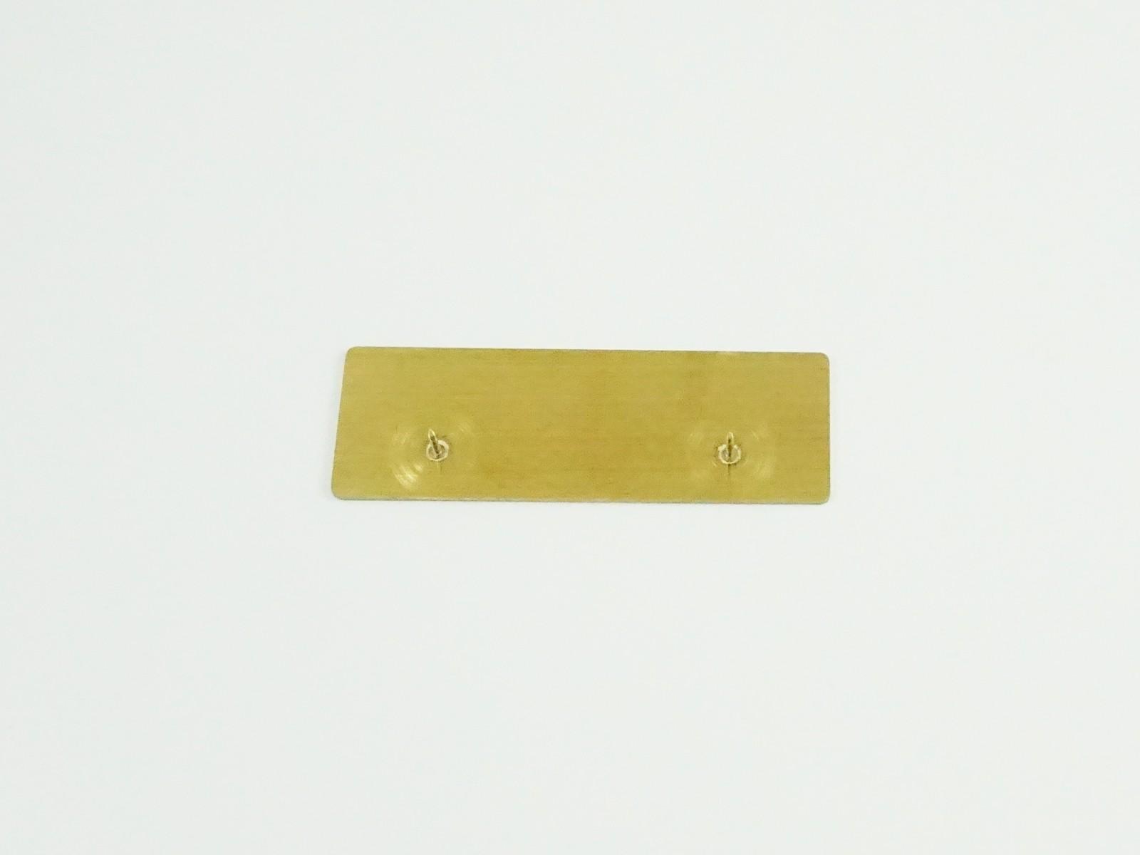 "1"" x 3"" Satin Gold Badge Pin Back"