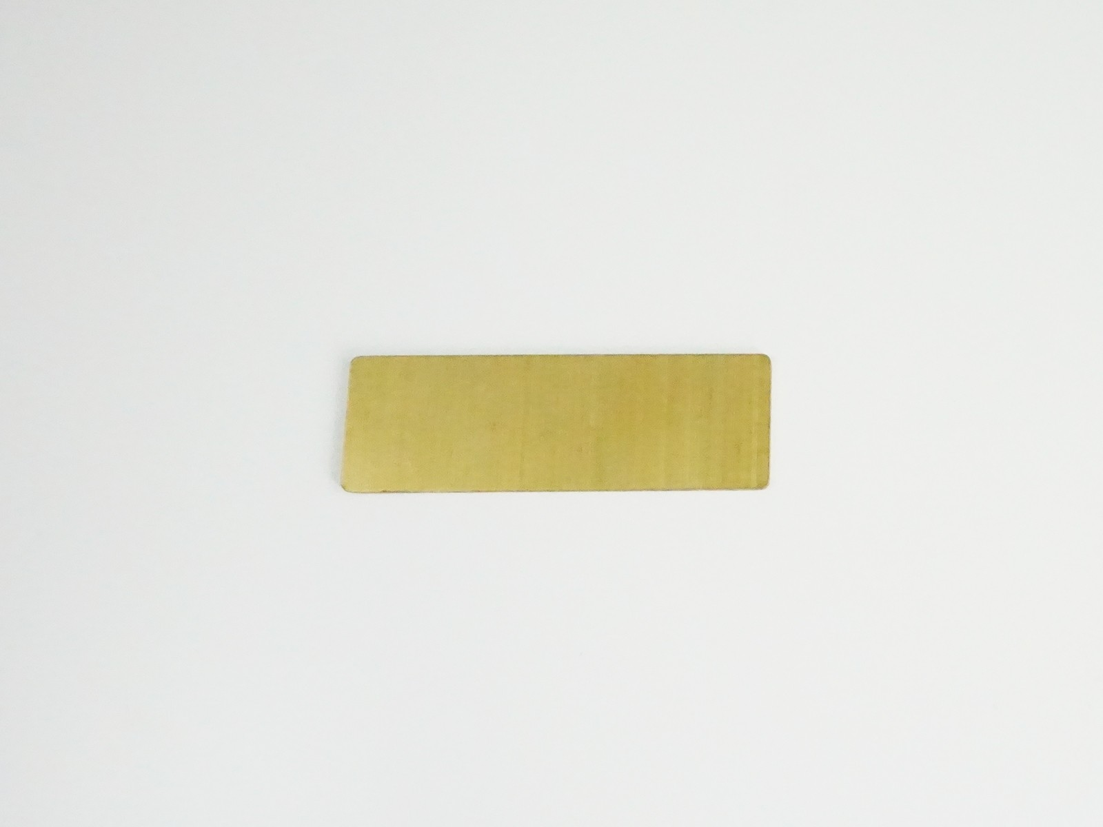 "1"" x 3"" Satin Gold Badge Blank Back"