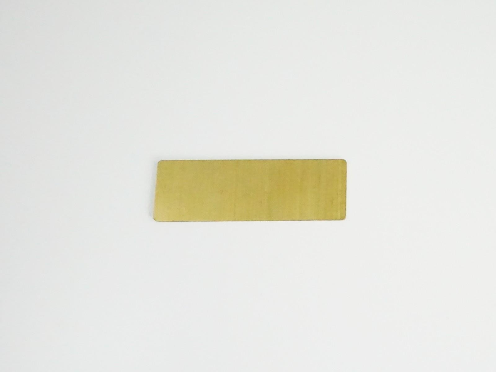 "1"" x 3"" Satin Gold Badge Blank Back"