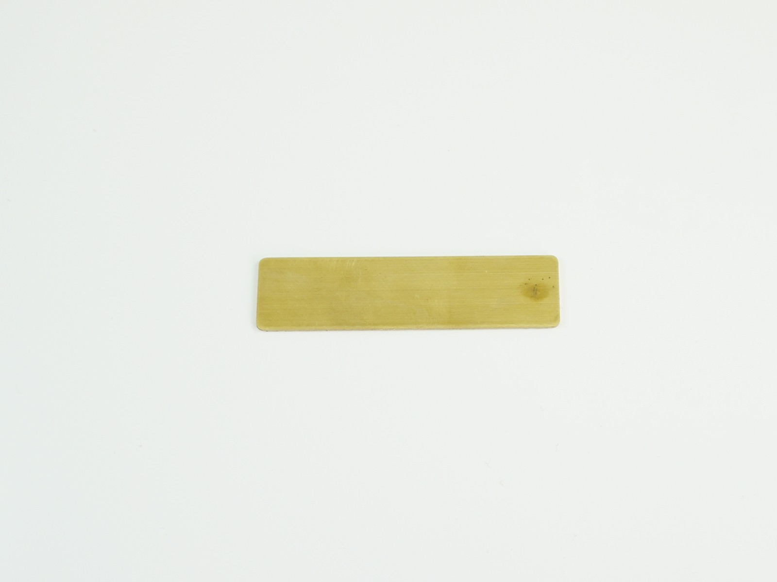 "5/8"" x 2 1/2"" Satin Gold Badge Blank Back"