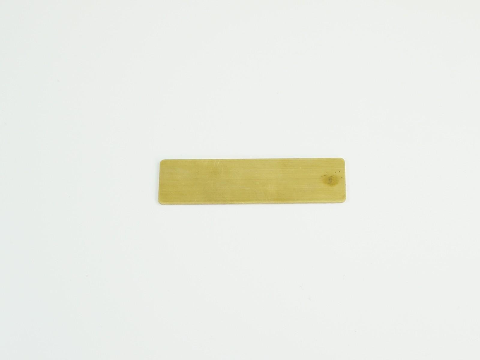 "5/8"" x 2 1/2"" Satin Gold Badge Blank Back"