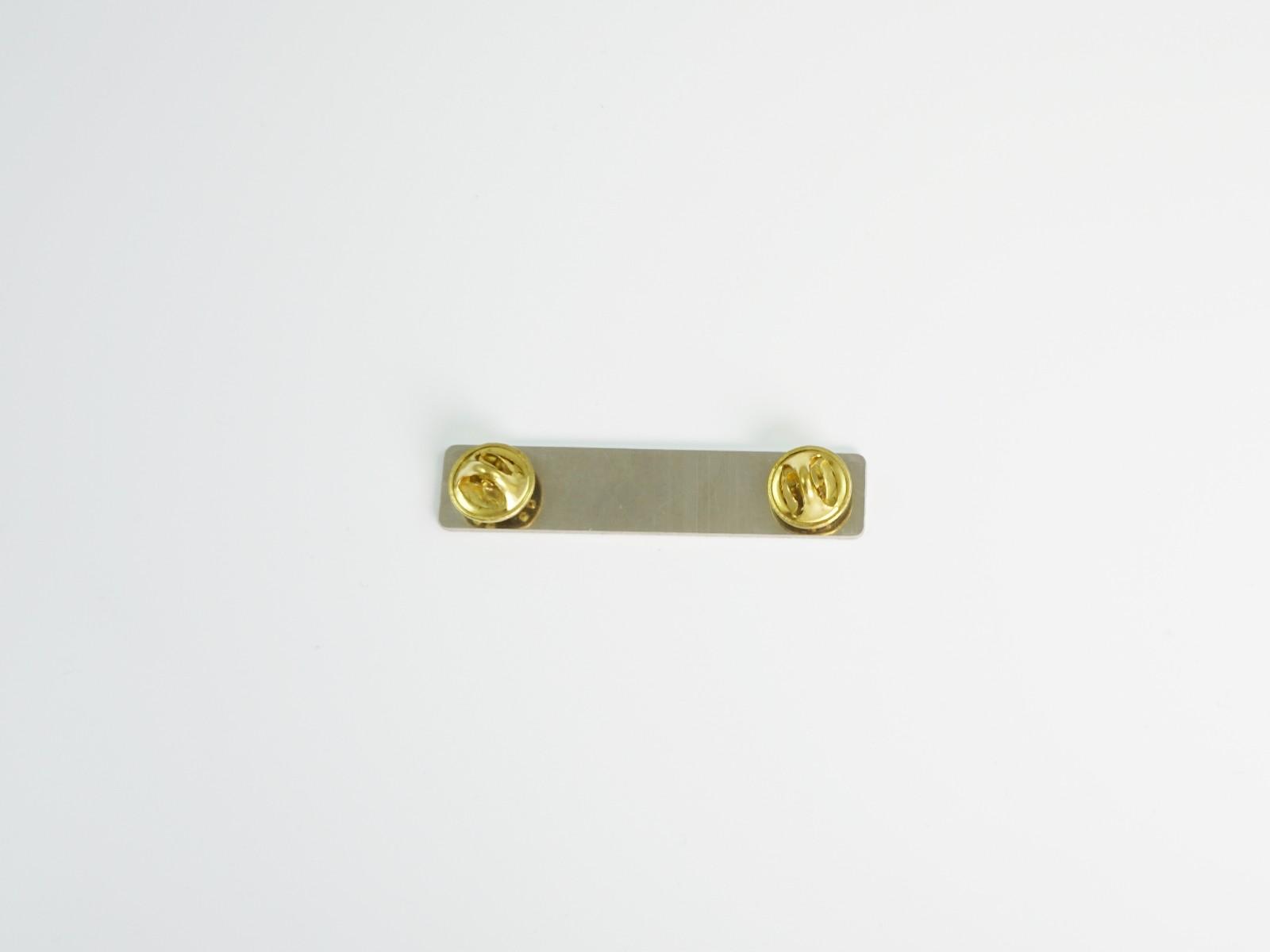 "1/2"" x 2 3/8"" Satin Silver Badge Pin Back"