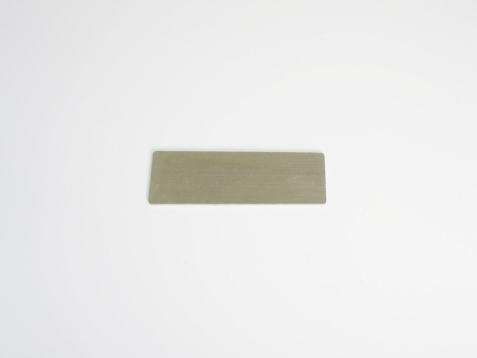 "1"" x 3"" Satin Silver Badge Blank Back"