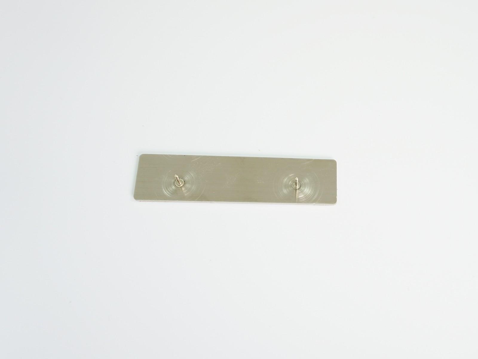 "3/4"" x 3"" Satin Silver Badge Clutch Back"