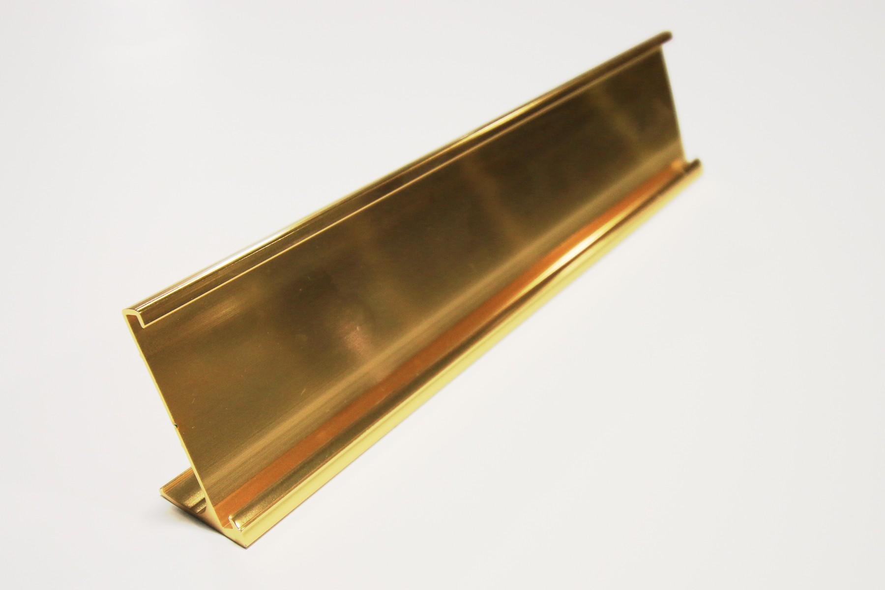 2 x 10 (1/8), Desk Holder, Gold